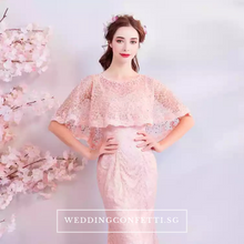 Load image into Gallery viewer, The Henriette Pink Off Shoulder Gown - WeddingConfetti