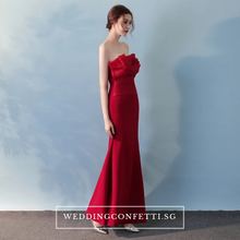 Load image into Gallery viewer, The Selena Red Tube Organza Dress