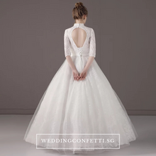 Load image into Gallery viewer, The Tesslia Bridal Long Sleeves Lace Gown - WeddingConfetti