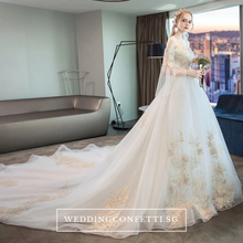 Load image into Gallery viewer, The Ethelia Bridal Shoulder Gown