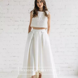 The Reneta Wedding Bridal Crop Top Maxi & Skirt (Customisable/Available in 5 colours) - WeddingConfetti