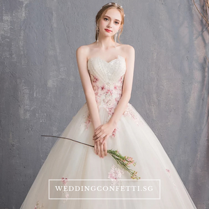 The Charlotte Wedding Bridal Tube Lace Gown - WeddingConfetti
