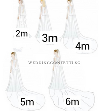 Load image into Gallery viewer, Wedding Bridal Veil - WeddingConfetti