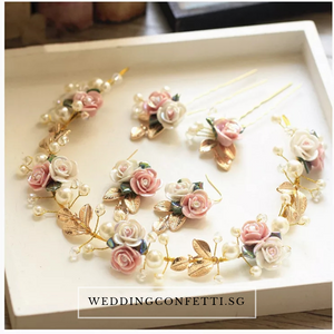 Bridal Necklace/Earrings/Hair Clips - WeddingConfetti