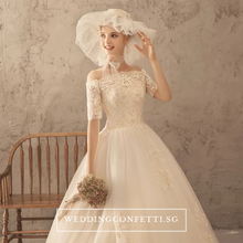 Load image into Gallery viewer, The Klarynde Bridal Off Shoulder Lace Gown - WeddingConfetti