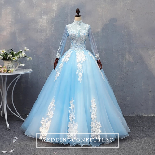 The Zaryn Wedding Long Sleeves Gown (Customisable) - WeddingConfetti