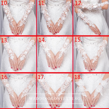 Load image into Gallery viewer, Wedding Lace White Gloves - WeddingConfetti