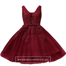 Load image into Gallery viewer, The Talitha Grey/Pink/Red/Blue Lace Sleeveless Dress - WeddingConfetti