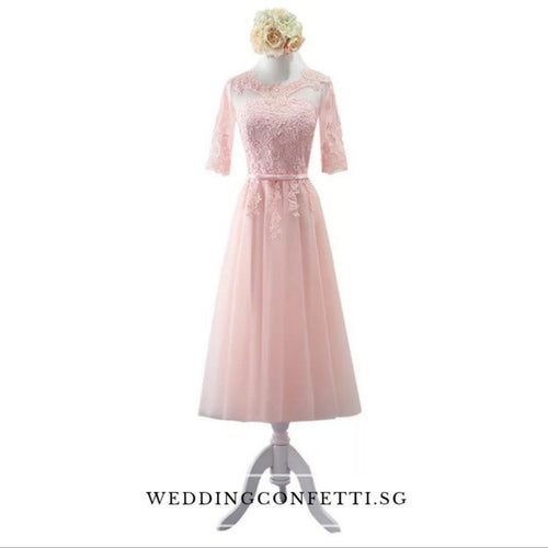 Penny Pink Long Sleeves Dress - WeddingConfetti