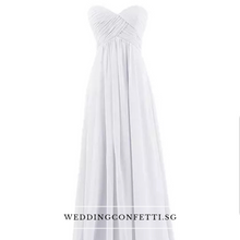 Load image into Gallery viewer, Kerdelia White Chiffon Tube Dress - WeddingConfetti