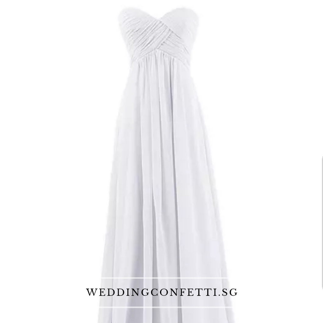 Kerdelia White Chiffon Tube Dress - WeddingConfetti