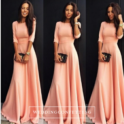 The Azzuria Pink Long Sleeves Dress - WeddingConfetti