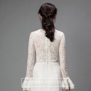The Jennyvieve Wedding Bridal Long Sleeves Dress - WeddingConfetti