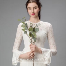 Load image into Gallery viewer, The Jennyvieve Wedding Bridal Long Sleeves Dress - WeddingConfetti