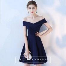 Load image into Gallery viewer, The Sellina Off Shoulder Cocktail Dress - WeddingConfetti