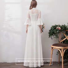 Load image into Gallery viewer, The Priscela Long Sleeves Gown - WeddingConfetti