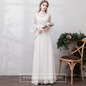 The Priscela Long Sleeves Gown - WeddingConfetti
