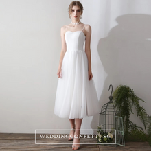Load image into Gallery viewer, The Zelda Wedding Bridal White Two Piece Dress - WeddingConfetti