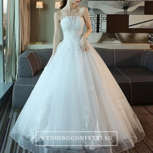 Load image into Gallery viewer, The Henreitta Wedding Bridal Tube White Gown - WeddingConfetti