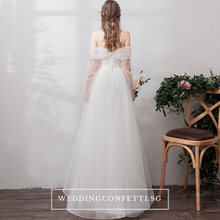 Load image into Gallery viewer, The Sephina Wedding Bridal Bohemian White Dress / Gown - WeddingConfetti