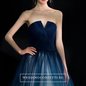 The Ashlie Ombre Blue/Red/Black Tube Gown