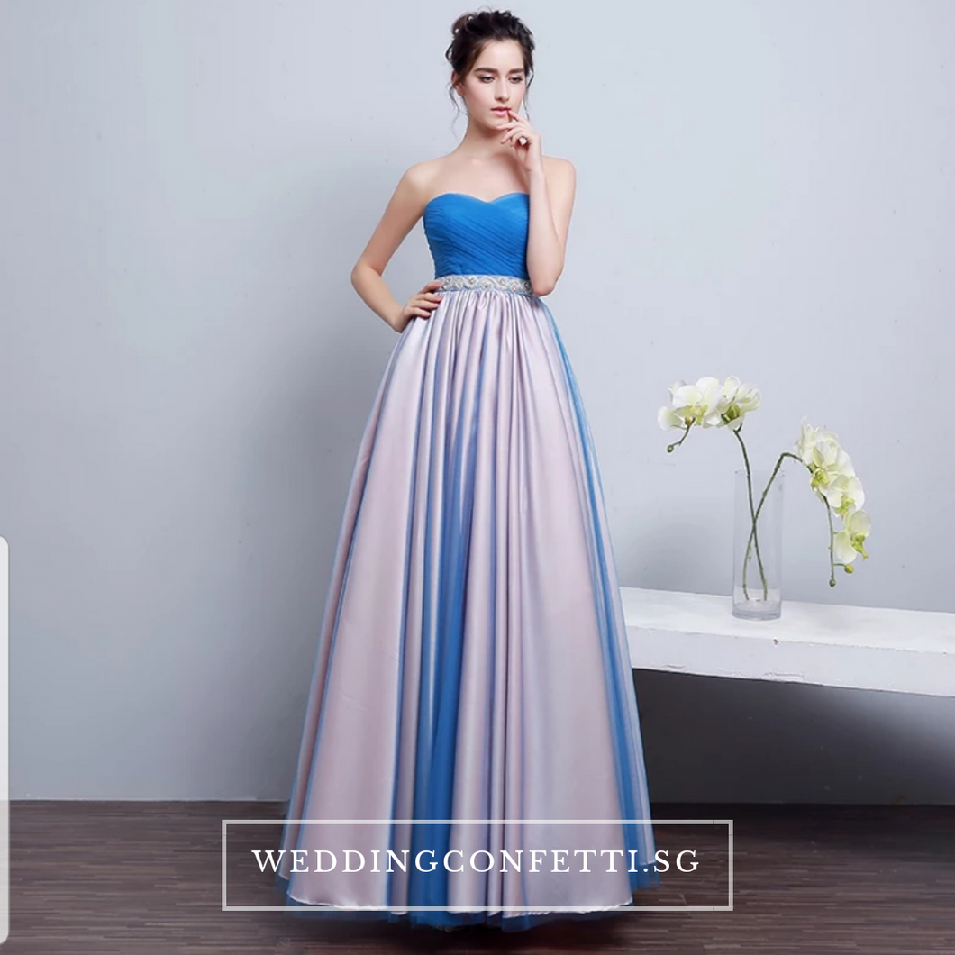 The Kirsten Blue Ombre Tube Gown - WeddingConfetti