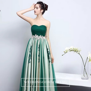The Kirsten Blue / Green / Black Ombre Tube Dress - WeddingConfetti