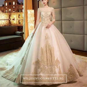 The Chanelle Bridal Champagne Gown - WeddingConfetti