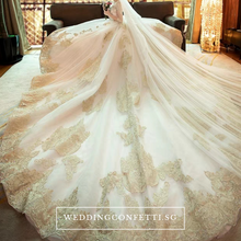 Load image into Gallery viewer, The Chanelle Bridal Champagne Gown - WeddingConfetti