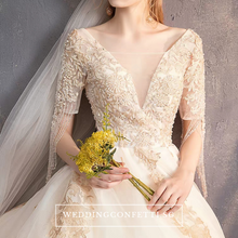 Load image into Gallery viewer, The Lowena Wedding Lace Embroidered Gown - WeddingConfetti