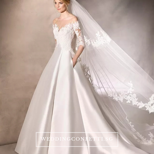 The Kristina Wedding Off Shoulder Lace Gown