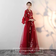 Load image into Gallery viewer, The Kaftan Blue/Red Floral Gown (Available in 2 colours) - WeddingConfetti