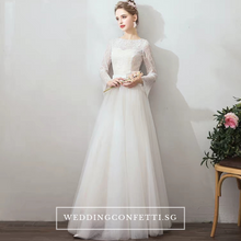 Load image into Gallery viewer, The Jerena Wedding Bridal Long Sleeves Gown - WeddingConfetti