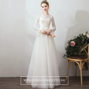 The Jerena Wedding Bridal Long Sleeves Gown - WeddingConfetti