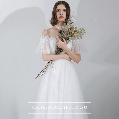 The Courtney Wedding Bridal Bohemian White Off Shoulder Gown