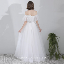 Load image into Gallery viewer, The Courtney Wedding Bridal Bohemian White Off Shoulder Gown - WeddingConfetti