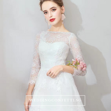 Load image into Gallery viewer, The Caitlyn Wedding Bridal Bohemian White Long Sleeves Gown - WeddingConfetti