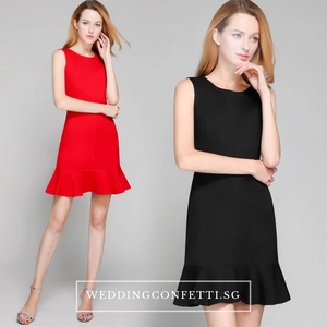 The Ixora Red/Black Fishtail Dress (Available in 2 colours) - WeddingConfetti
