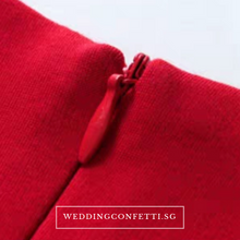 Load image into Gallery viewer, The Ixora Red/Black Fishtail Dress (Available in 2 colours) - WeddingConfetti