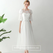 Load image into Gallery viewer, The Quincy Wedding Bridal Bohemian Two Piece Dress - WeddingConfetti