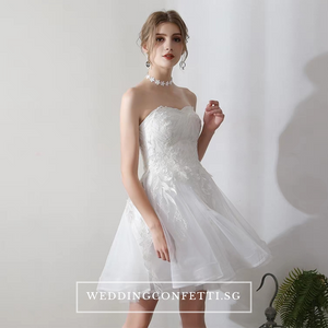 The Terrine Tube Short Gown - WeddingConfetti