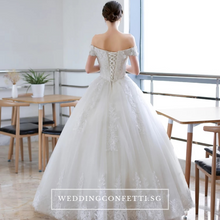 Load image into Gallery viewer, The Anna Wedding Bridal Off Shoulder Gown - WeddingConfetti
