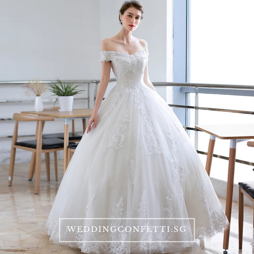 The Anna Wedding Bridal Off Shoulder Gown - WeddingConfetti