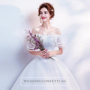 The Athelia Wedding Bridal Off Shoulder Ball Gown - WeddingConfetti