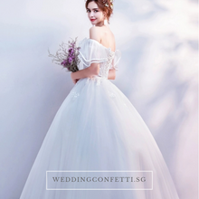 Load image into Gallery viewer, The Athelia Wedding Bridal Off Shoulder Ball Gown - WeddingConfetti