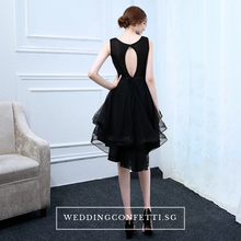 Load image into Gallery viewer, The Alethea Black Sequined Gown - WeddingConfetti