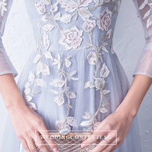Load image into Gallery viewer, The Levenia Floral Long Sleeves Gown - WeddingConfetti