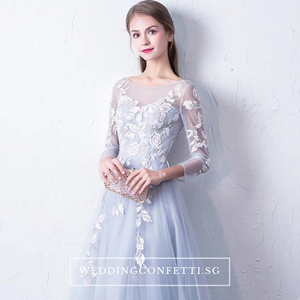 The Levenia Floral Long Sleeves Gown - WeddingConfetti