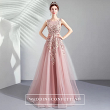 Load image into Gallery viewer, The Lovelia Pink Sleeveless Gown - WeddingConfetti