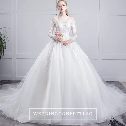 The Etheldy Wedding Bridal Long Sleeves Lace Gown - WeddingConfetti